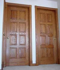 hinged door solid
